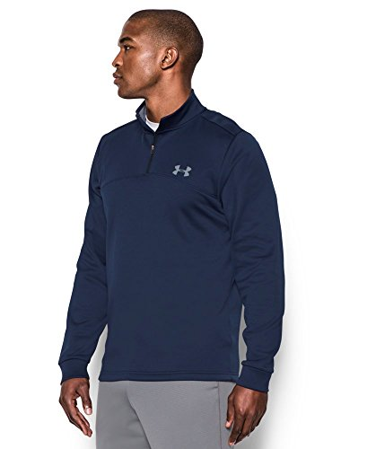 Under Armour Men's Storm Armour Fleece 1/4 Zip, Midnight Navy (410)/Steel, Small by Under Armour (Image #1)