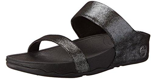 Fitflop Vrouwen Lulu Shimmersuede Dia Sandaal Zwart