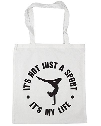 HippoWarehouse Keep Calm and Bei Trockner Gymnastik Einkaufstasche Fitnessstudio Strandtasche 42cm x38cm, 10 liter - Weiß, One size