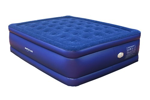 Smart Air Beds Raised Deluxe Coil Beam Flock Top Air Bed, Bl