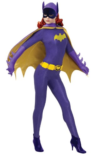 Rubie's Costume Grand Heritage Batgirl Classic TV Batman Circa 1966, Purple/Gold, Small Costume (Purple Batgirl Costume)