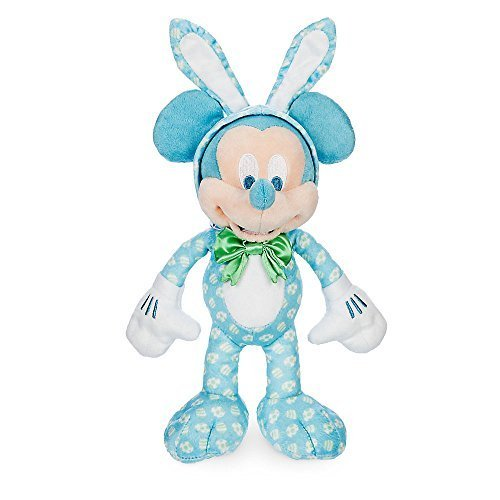 Disney Store Parks Authentic Mickey Mouse Plush Easter Bunny Kids Toy Doll NEW