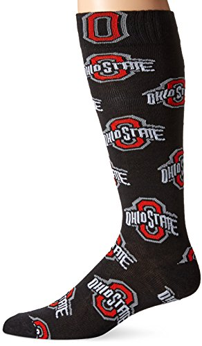 NCAA Ohio State Buckeyes Athletic Block Black Dress Socks (Ohio State Athletics Football)