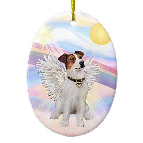 Zazzle Clouds - Jack Russell Terrier Ceramic Ornament - Ornament Russell Jack