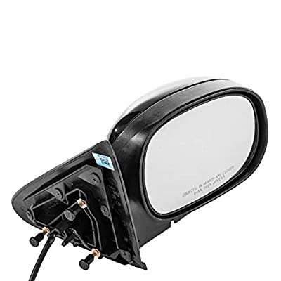 Dependable Direct Right Passenger Side Mirror for 1997-2003 Ford F-150 and 2004 Ford F-150 Heritage - Power Operated Unpainted Non-Heated Folding Door Mirror - FO1321134: Automotive