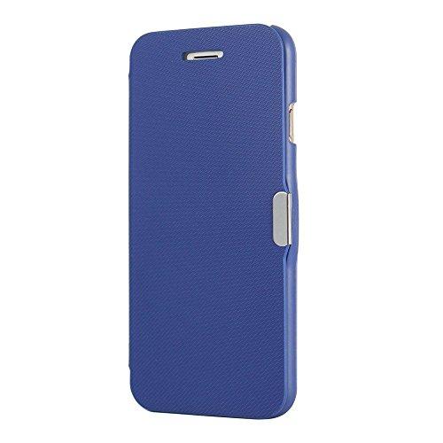 König-Shop Flip Cover Schutzhülle Case Handyhülle Bookstyle für Apple iPhone 7 Blau