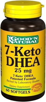 7 Keto DHEA 25mg - 60 gélules, Good'n (Naturel)