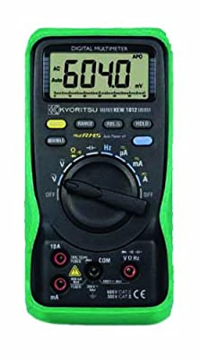 Kyoritsu 1012 Auto-Ranging, True RMS Digital Multimeter, 600V, 10 Amp, 60 Megaohms, 4000 Microfarads, 10 MHz