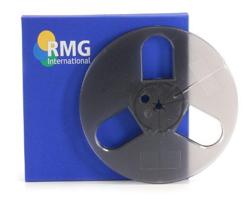 RMG 7'' x 1/4'' Empty Plastic Reel - Small Hub w/ Blue Hinged Box