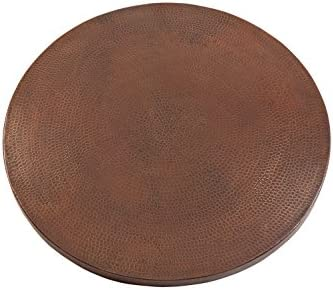 Premier Copper Products TTR30DB 30″ Round Hammered Copper Table Top