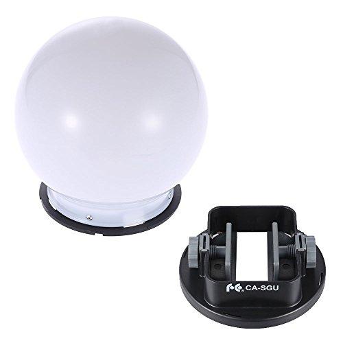 Andoer SGA-DB150 Universal Flash Bounce Diffuser Soft Ball Dome & Flash Adapter Mount for Nikon Canon Yongnuo Godox Sigma Andoer Neewer Vivitar Speedlight