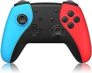 Controlador para jogos, Controlador sem fio Grip Dual Motor Remote Controller Gamepad Joystick com função Turb
