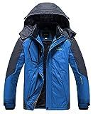 2. Heihuohua Men's Mountain Waterproof Ski Snowboard Jacket Windproof Fleece Lined Outdoor Hiking Coat,Blue,3XL(US L)