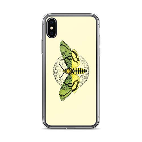 iPhone X/XS Case Anti-Scratch Creature Animal Transparent Cases Cover Butterfly and The Moon Animals Fauna Crystal Clear