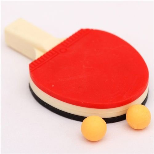 red-black table tennis racket eraser by Iwako from Japan by Iwako