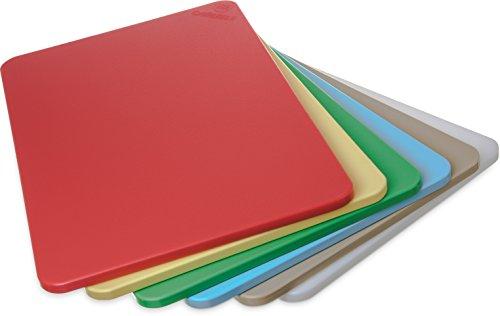 "Carlisle 1088000 6-Piece Sparta Spectrum Cutting Board Assortment Pack, Assorted Colors, 12"" x 18"" x 1/2"""