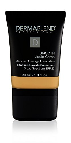 Best Face Foundation Coverage - Dermablend Smooth Liquid Camo Medium to High Coverage Foundation Makeup with SPF 25, 35w Chai, 1 fl. oz.