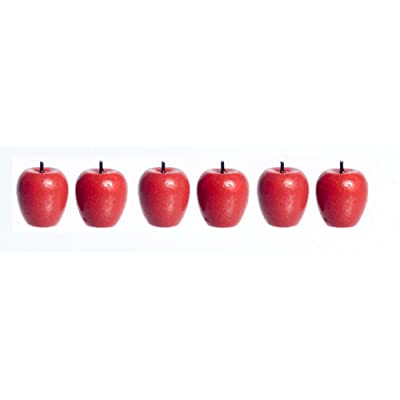 Dollhouse Miniature Red Apples Pkg of 6: Toys & Games