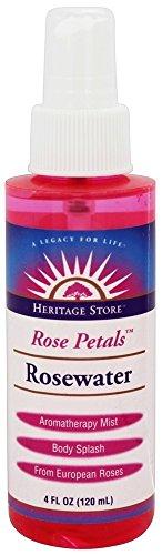 Heritage - Flower Water Atomizer Mist Sprayer Rose Petals Rosewater - 4 fl. ()