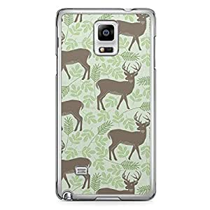Deers Pattern Samsung Galaxy Note 4 Transparent Edge Case - Animal Patters Collection