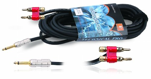 Technical Pro cqb1625. 25 inch to Banana Speaker Cables 25 f