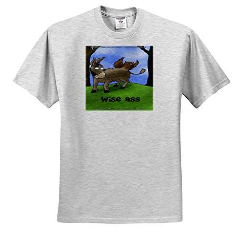 Londons Times Offbeat Gen. 2 Offbeat Cartoons - Owls and Donkeys - Wise Ass Funny Gifts - T-Shirts - Adult Birch-Gray-T-Shirt XL (Wise Ass)