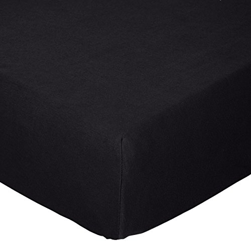 SheetWorld Fitted Crib / Toddler Sheet - Solid Black Jersey
