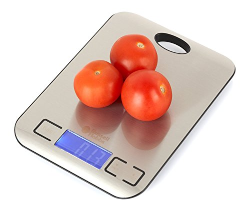 Kitchen Scales by Russell Hobbs - BWO1172 - Slim Electronic Digital 5kg Stainless Steel Platform Scale