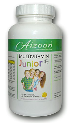120 Kautabletten Vitamin B Junior Multivitamin Tabletten Banane Kinder 105034
