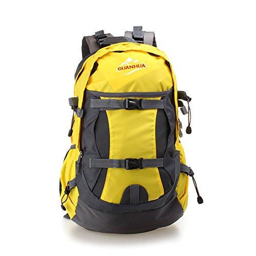 ROBAG Nueva hembra ultralight mochila mochila impermeable deportes al aire libre escalada bolsa de hombro , green yellow