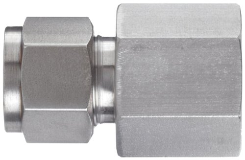 Brennan N2405-04-04-SS Stainless Steel Compression Tube Fitting, Straight Adapter, 1/4'' Tube OD x NPT Female by brennan (Image #2)