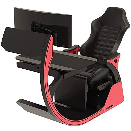 FYHpet Video Game Chairs Gaming Chair Ergonomic Computer Cockpit Happy-Chair-Esports-Chair with Comfortable Neck and Lumbar Spine Tiresome