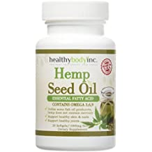 (2 bottles) Omega 3 Premium Hemp Seed Oil Nutritional Supplement By Healthy Body Inc. - Omega 3 - 6 - 9 Polyunsaturated Fatty Acid Dietary Supplement - All Natural Formula