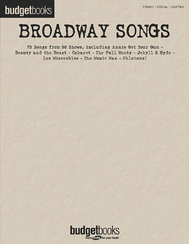 Download Broadway Songs: Budget Books pdf