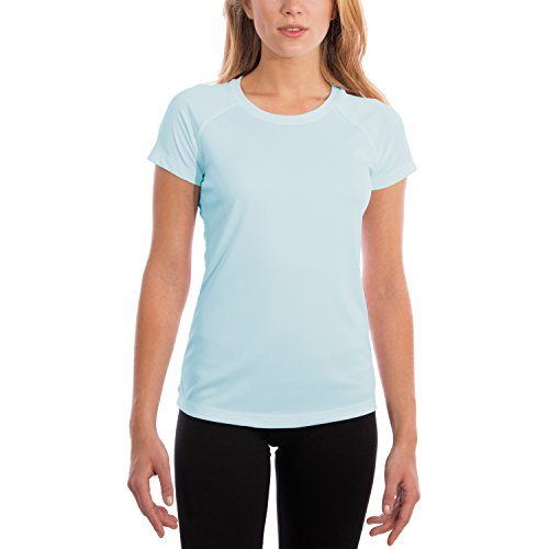 Vapor Apparel Women's Made in USA UPF 50+ UV/Sun Protection Short Sleeve T-Shirt X-Large Arctic Blue ()
