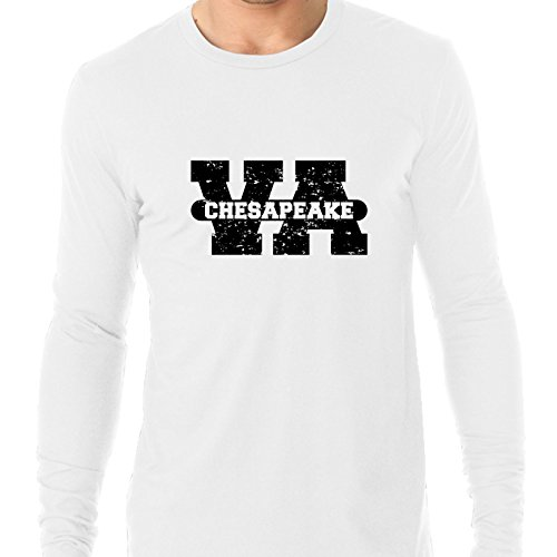 Chesapeake, Virginia VA Classic City State Sign Men's Long Sleeve (Party City Chesapeake Virginia)