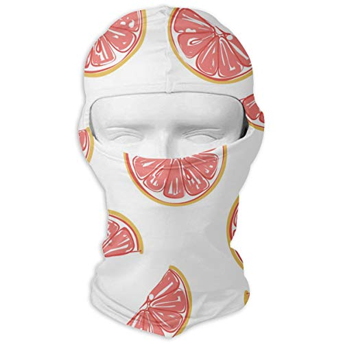 (LNUO-2 Wind-Resistant Balaclava, Grapefruits Porch for Snowboarding White)
