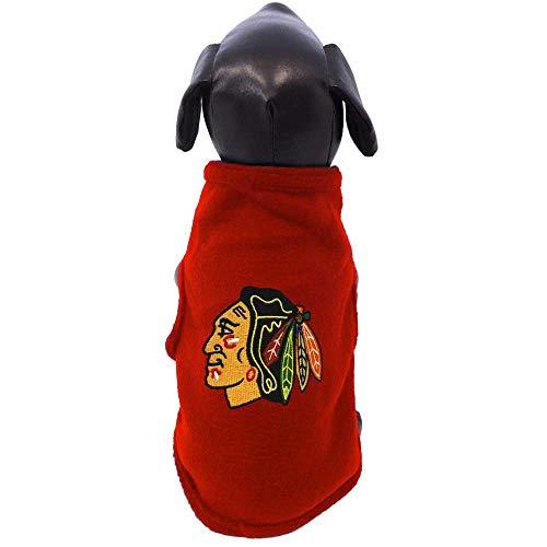 All Star Dogs Chicago Blackhawks Sleeveless Fleece Pet Vest, X-Small