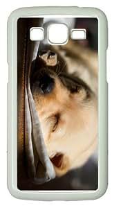 funny caselabrador pup sleeping PC White case/cover for Samsung Galaxy Grand 2/7106