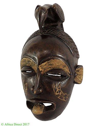 Chokwe Mask Female Mwana Pwo Congo Bird on Top Africa