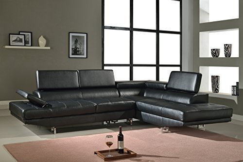 Torino Right Hand Facing Sectional Black