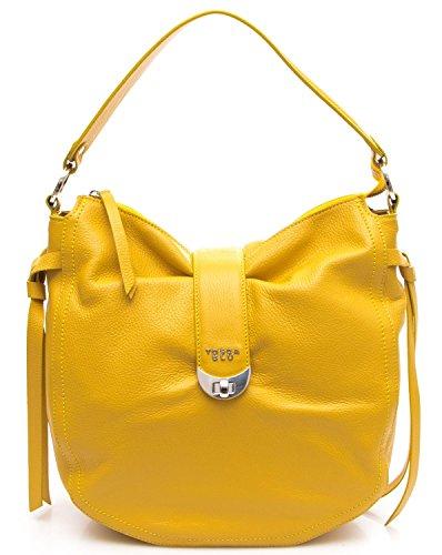 Tosca Blu Borsa Donna Moon Flower Borsa con Tracolla Nastro Multicolor giallo