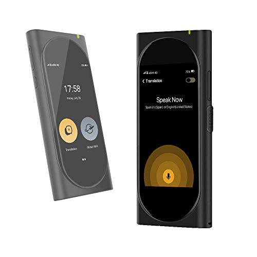 Langogo Genesis Pocket AI Translator with Global Mobile Hotspot, 100+ Languages Instant Two-Way Voice Translator Device and Transcription Recorder, Integrated eSIM, 3.1inch Retina Display, Black (Electronic Pocket Translator)