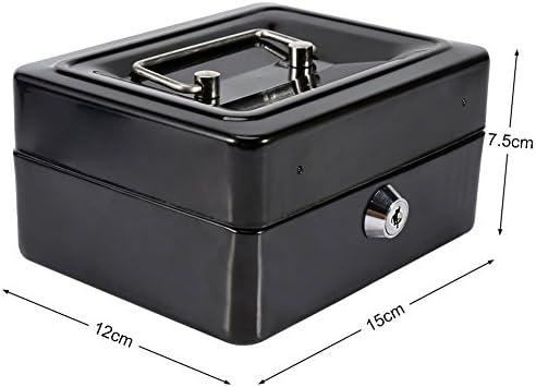 Caja Fuerte portátil Cajas de caudales Caja de Dinero pequeña con ...