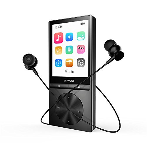 Aniee MP3 Player with Bluetooth, 16GB Hi-Fi Lossless Sound Metal Music Player Support FM Radio/Voice Recorder/E-book/Photo Browsing with Armband Earphone, Expandable up to 128GB by Aniee