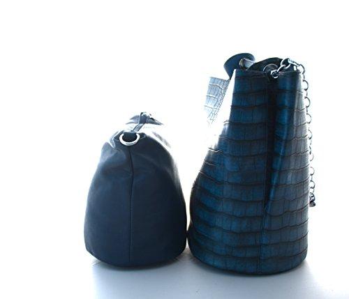 Donna Per Spalla Il Blu Sacchetto Unbekannt Di Plastica Grigio 0wfx7fUq