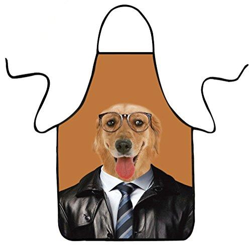 VIPbuy Novelty 3D Animal Dog Print Funny Kitchen Bib Apro...