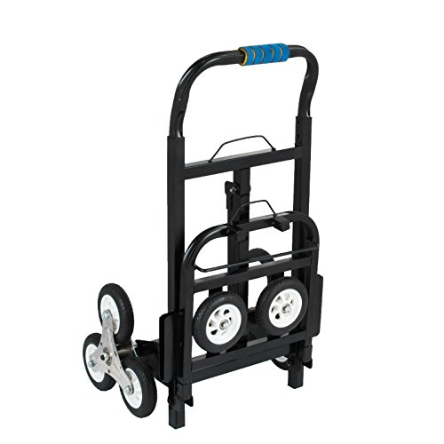Happybuy Stair Climbing Cart 45 Inches Portable Hand Truck 2x Three-wheel Hand Truck Stair Climber 330LB Capacity Folding Stair Hand Truck Heavy Duty by Happybuy (Image #2)
