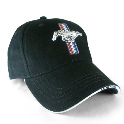 - Ford Mustang Logo Black Baseball Hat