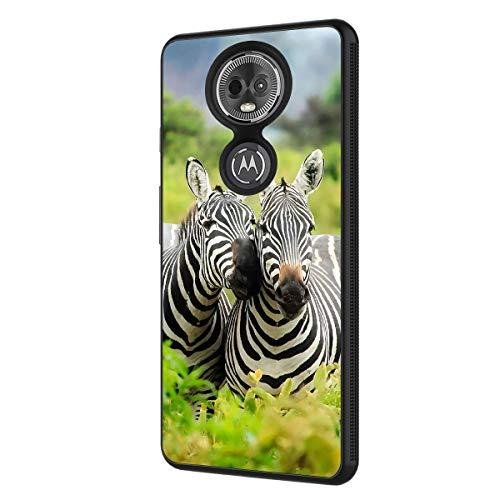 Moto G7 Power Case, Moto G7 Supra Case,BOSLIVE Lover Zebras Background Design TPU Slim Anti-Scratch Protective Cover Case for Motorola Moto G7 Power 2019